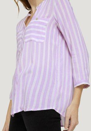Camicetta - lilac white vertical stripe