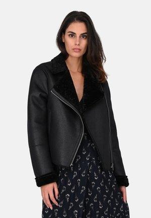 OLGA  2 - Faux leather jacket - black