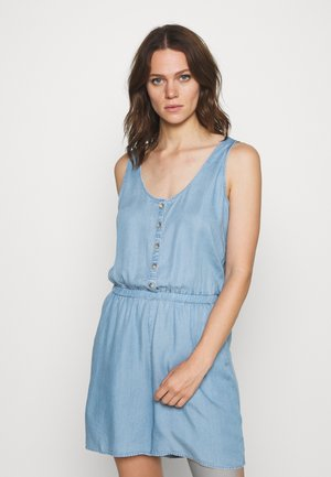 CHAMBRAY SHORTALL - Jumpsuit - light stone wash denim
