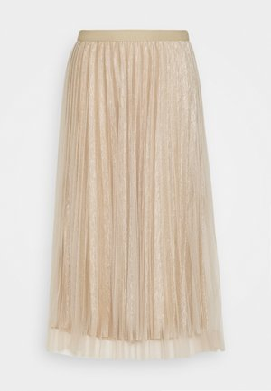 LADIES WOVEN SKIRT - Jupe trapèze - beige