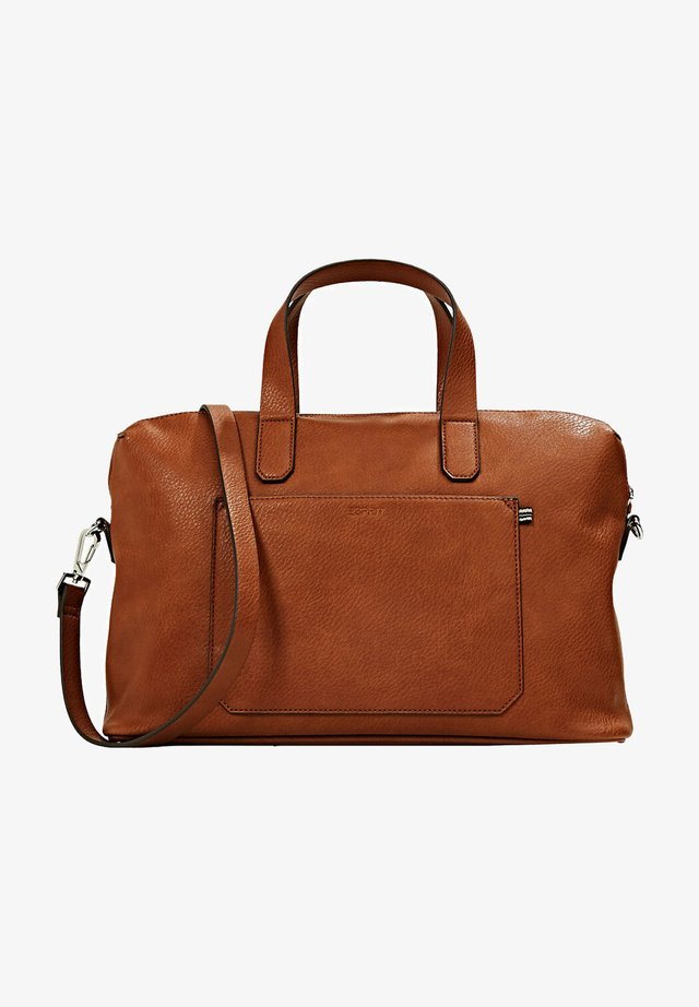 Briefcase - rust brown