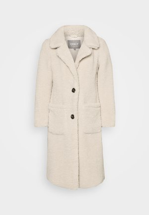 ONLSTAR LONG TEDDY COAT  - Klassisk kappa / rock - pumice stone