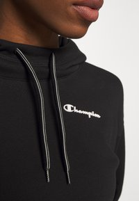 Champion - HOODED CROP LEGACY - Mikina s kapucí - black - 6