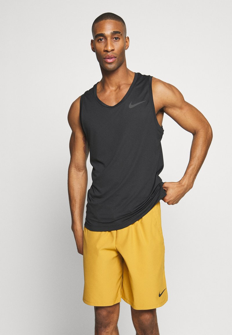 Nike Performance - TANK DRY - T-shirt sportiva - black/white