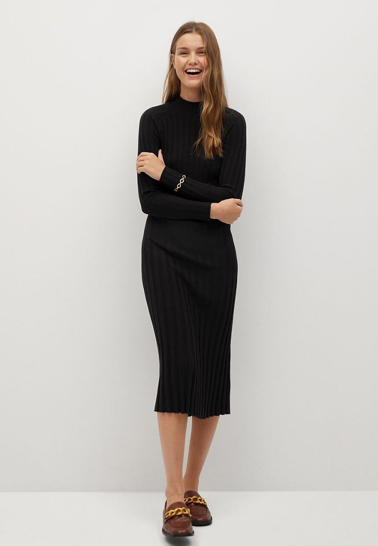 Mango - FLURRY - Jumper dress - noir