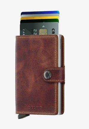 Business card holder - vintage brown