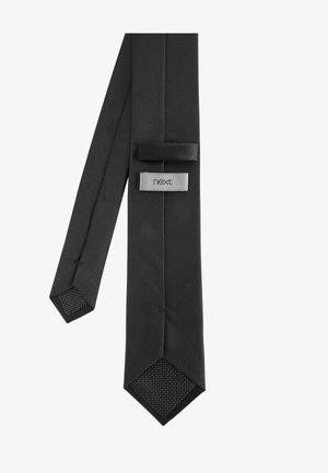 BURGUNDY WIDE  - Tie - black