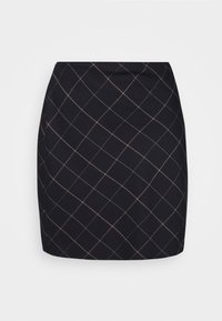 Abercrombie & Fitch - PLAID MINI SKIRT - Mini skirt - black - 4