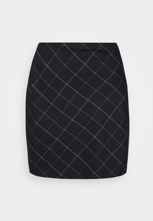 PLAID MINI SKIRT - Mini skirt - black