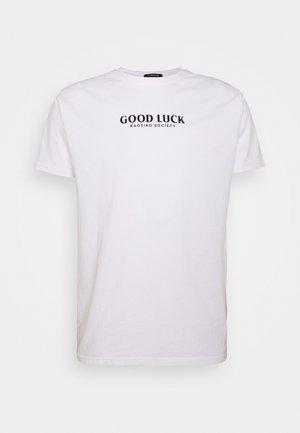UNISEX GOOD LUCK - Print T-shirt - white