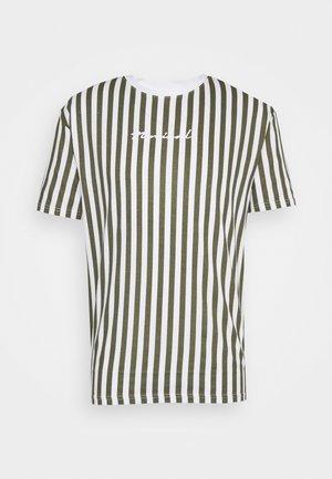 STRIPE TEE - T-shirt med print - white