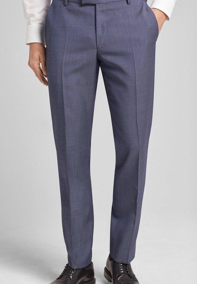 BRAD - Suit trousers - medium blau