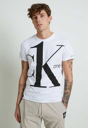 CK ONE BIG LOGO REGULAR  TEE - T-shirt imprimé - bright white