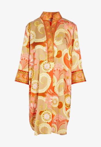 KAMILLE - Robe d'été - khanga taupe