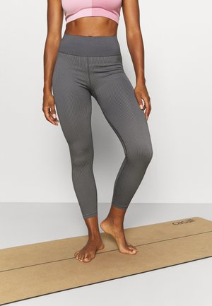 SEAMLESS HI LOW 7/8 - Leggings - pewter grey