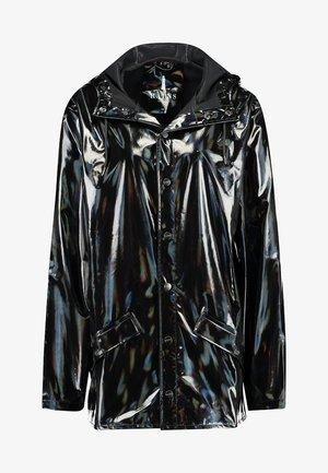 UNISEX HOLOGRAPHIC JACKET - Vodotěsná bunda - black
