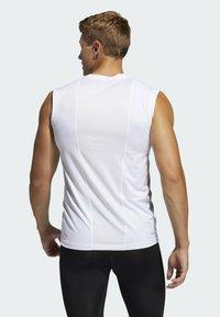 adidas Performance - SL TECHFIT AEROREADY PRIMEGREEN SPORTS SLEEVELESS T-SHIRT - Top - white - 2