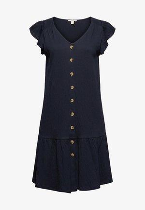 CRINKLE DRESS - Shirt dress - navy
