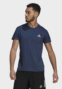 adidas Performance - OWN THE RUN SOFT T-SHIRT - Print T-shirt - blue - 0