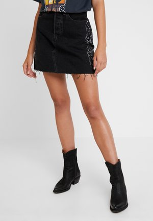 DECON ICONIC SKIRT - Áčková sukně - black denim