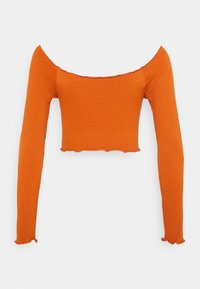 Cotton On - SEAM FREE OFF THE SHOULDER LONG SLEEVE - Long sleeved top - rust - 1