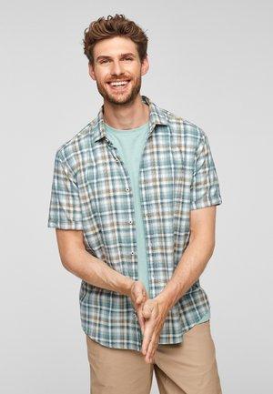 REGULAR MANCHES COURTES ET MOTIF À CARREAUX - Shirt - light green check