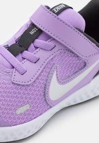 Nike Performance - REVOLUTION 5 UNISEX - Neutral running shoes - lilac/metallic silver/dark smoke grey/white - 5