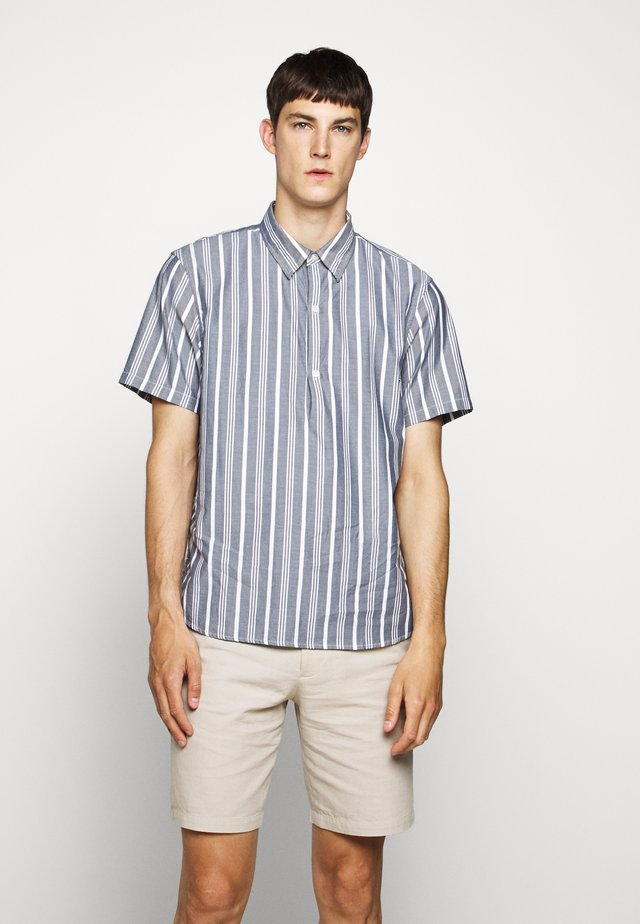 STRIPED POPOVER - Shirt - grey