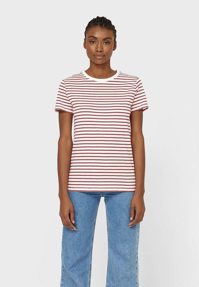 Stradivarius - T-shirt z nadrukiem - red