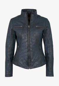 7eleven - RENATE - Leather jacket - navy - 3