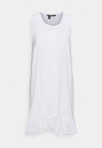 SHORT NIGHTGOWN - Nattskjorte - white