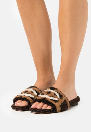 PEONI - Pantoffels - ebano
