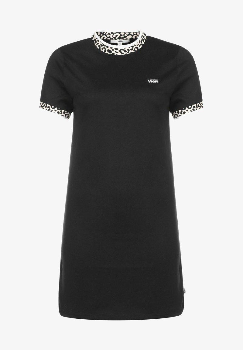 Vans - WM WILD HI ROLLER DRESS - Jersey dress - black