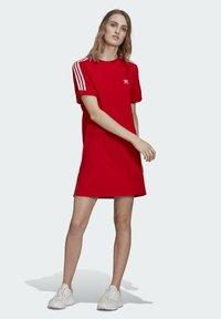 adidas Originals - TEE DRESS - Jersey dress - red - 1