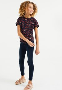 WE Fashion - T-shirt print - dark blue, pink - 2