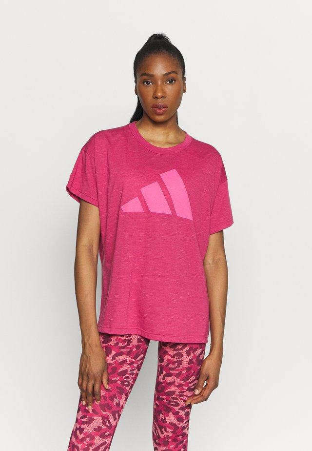 WIN TEE - T-shirt imprimé - berry