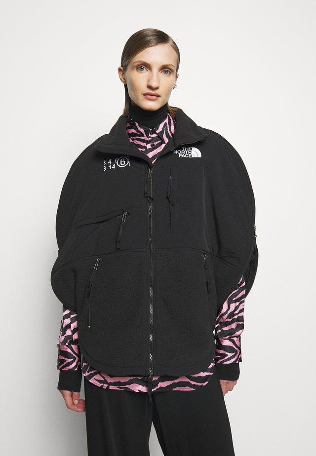 MM6 X THE NORTH FACE COAT - Fleece jacket - black