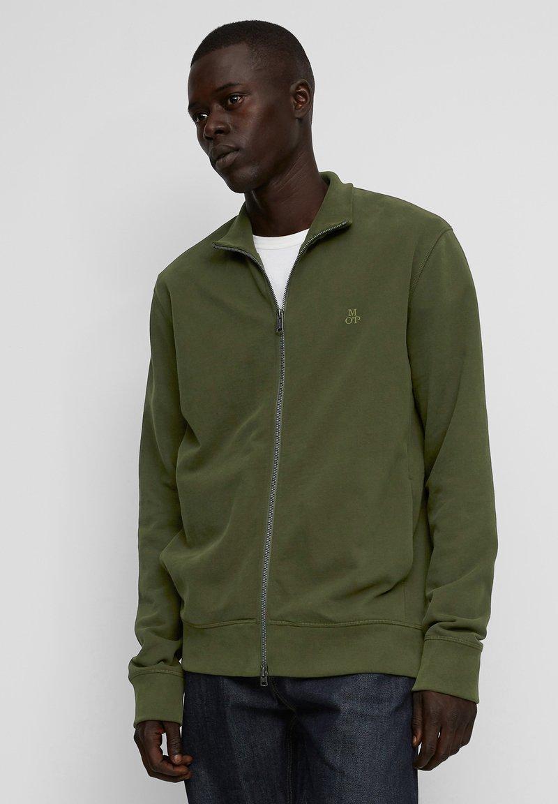 Marc O'Polo - LONG SLEEVE - Zip-up sweatshirt - burnt leaf