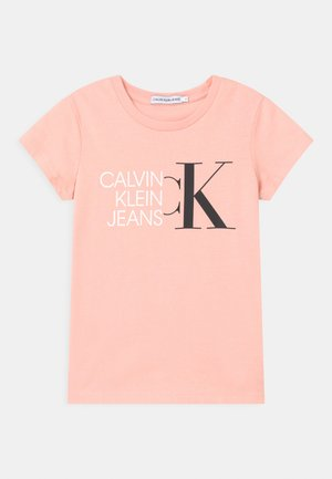 HYBRID LOGO SLIM - Print T-shirt - pink