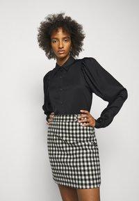 DESIGNERS REMIX - EMME SLEEVE - Button-down blouse - black - 0