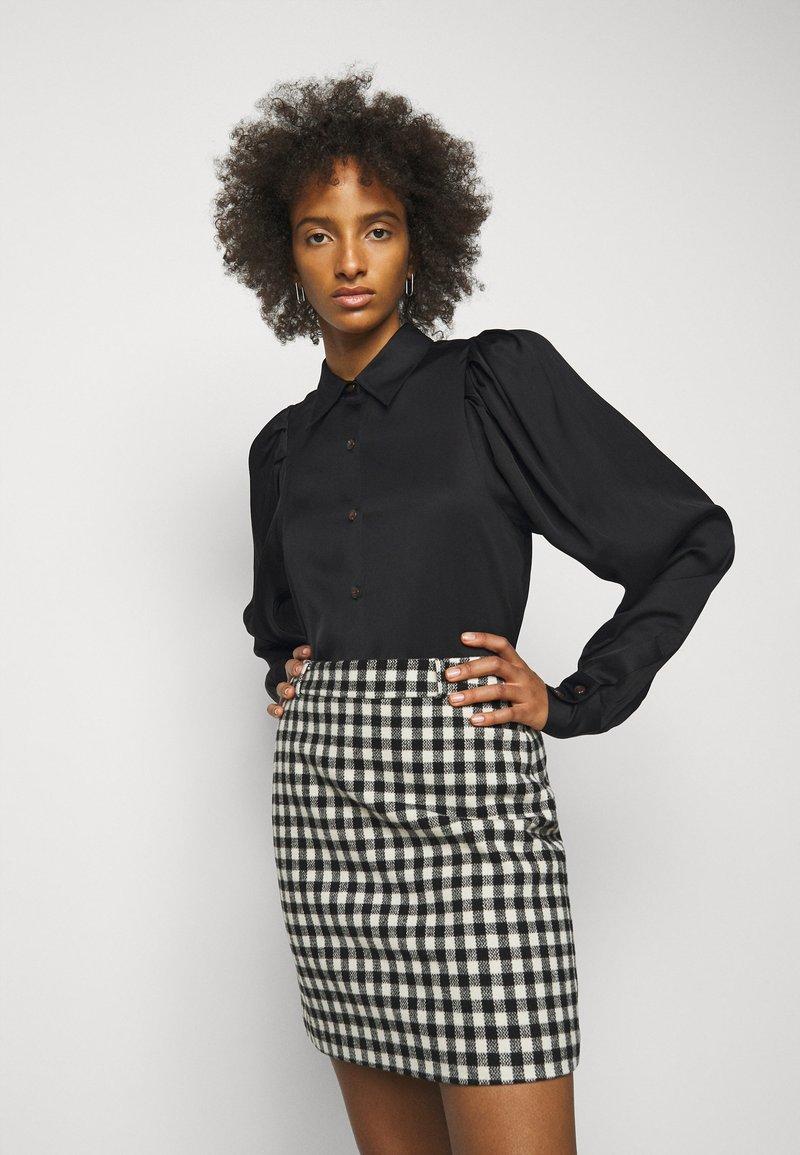 DESIGNERS REMIX - EMME SLEEVE - Button-down blouse - black