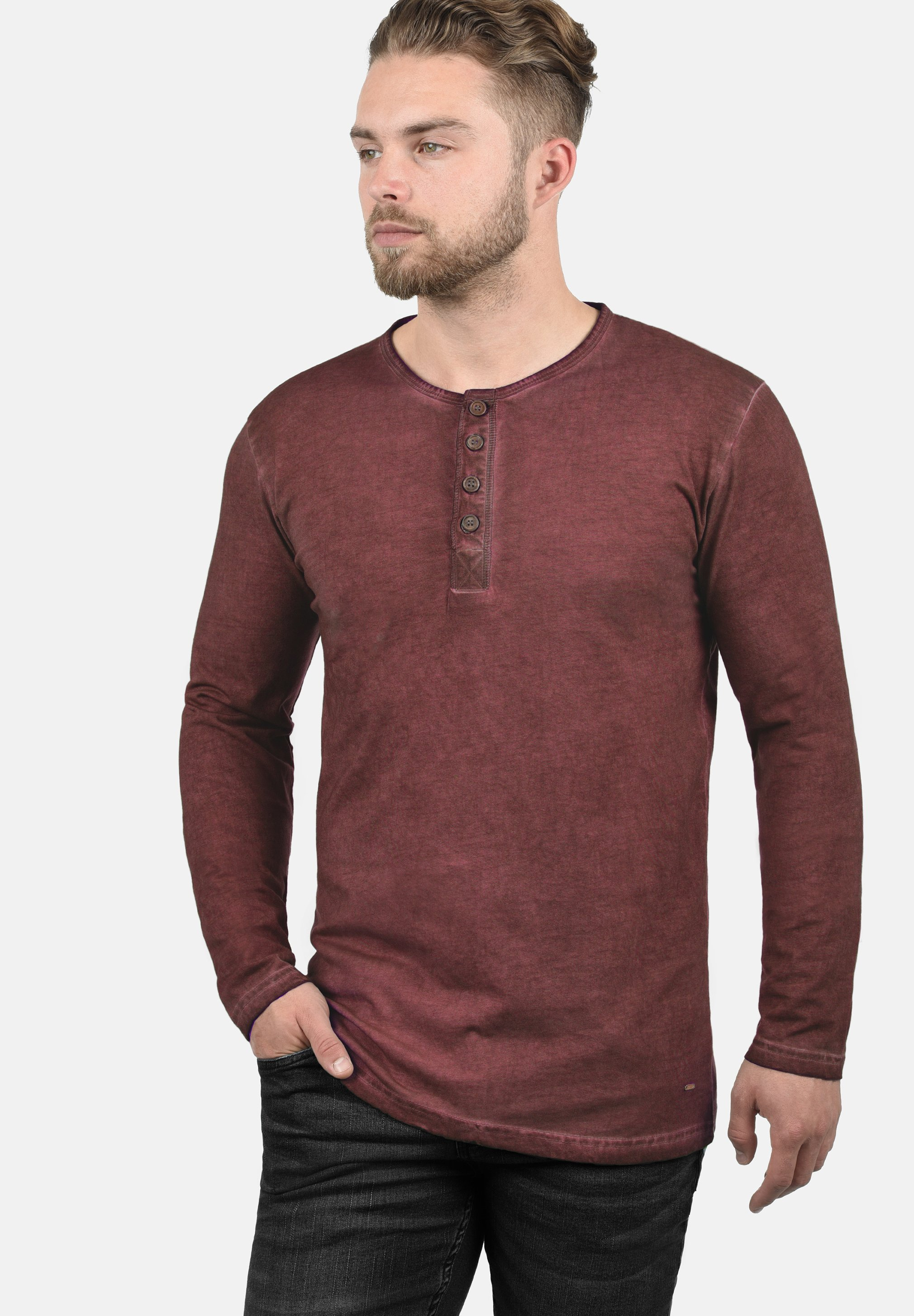 Herrer RUNDHALSSHIRT TIMUR - Langærmede T-shirts