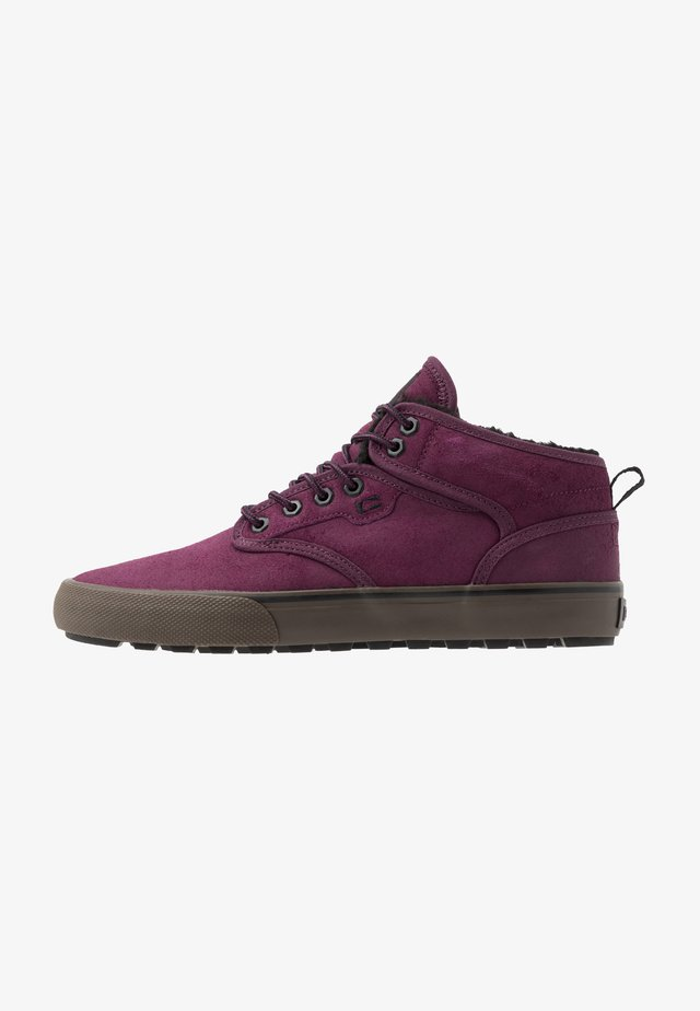 MOTLEY MID - Skate shoes - plum/black