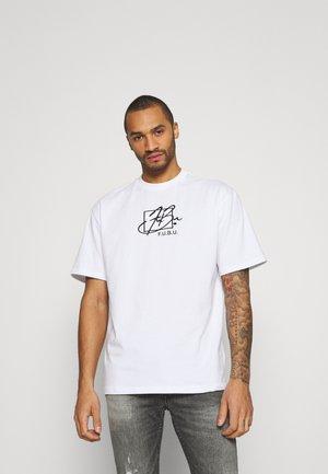 SCRIPT  - T-shirt imprimé - white