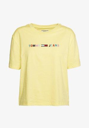 COLORED LINEAR LOGO TEE - Print T-shirt - frozen lemon