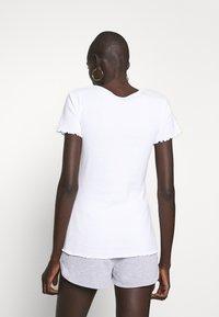 Dorothy Perkins Tall - LETTUCE EDGE TEE 2 PACK  - Basic T-shirt - black/white - 4