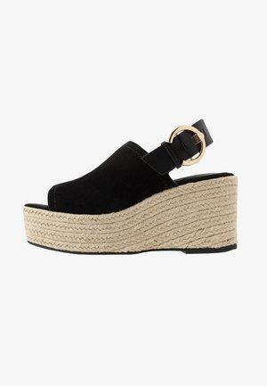 WILD WEDGE - High heeled sandals - black