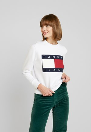 TJW TOMMY FLAG CREW - Sweatshirt - classic white