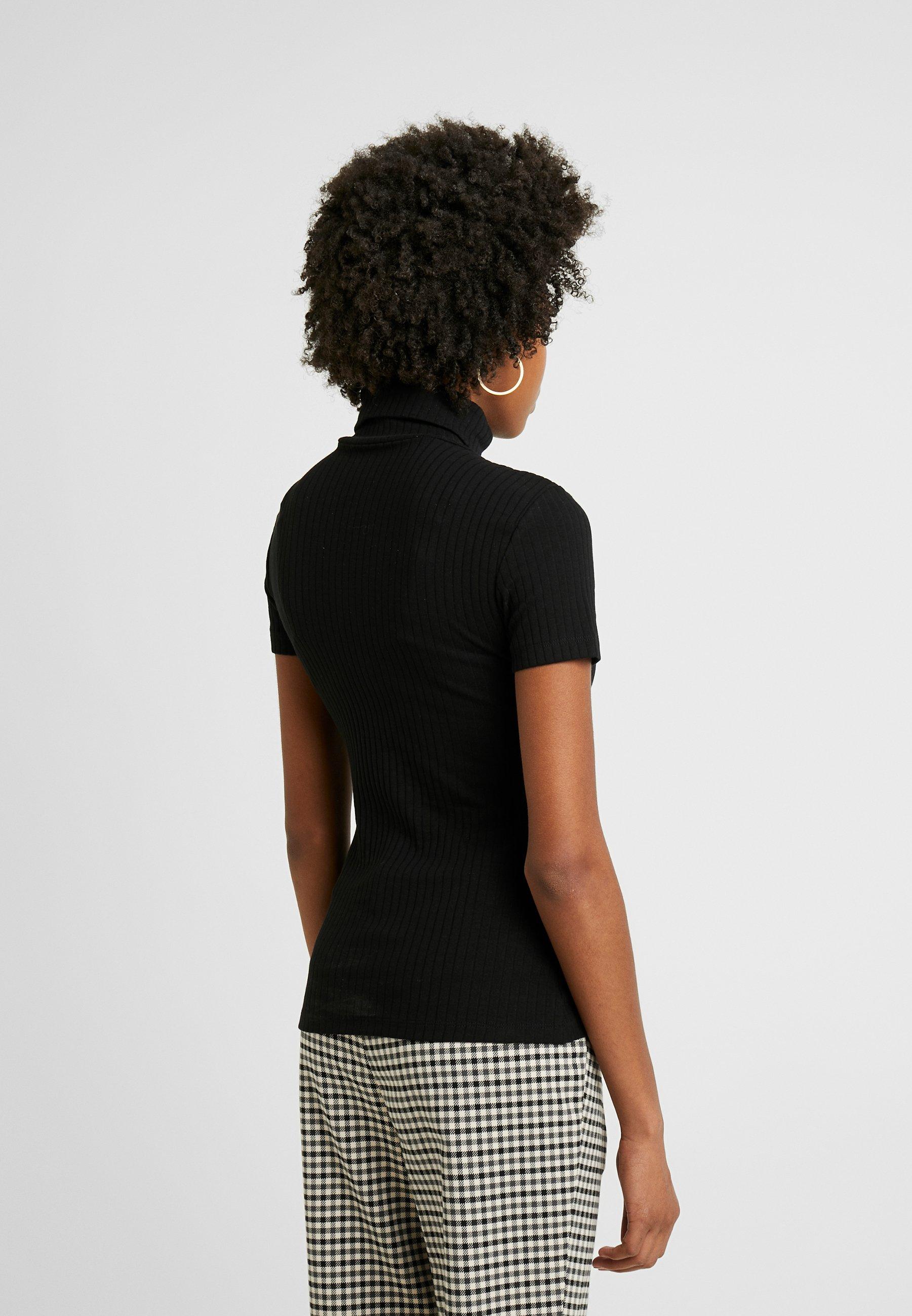 Women SHORT SLEEVE ROLL NECK - Print T-shirt