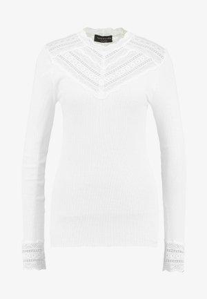 SILK-MIX T-SHIRT REGULAR LS W/WIDE LACE - Topper langermet - new white